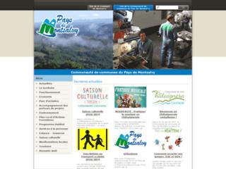 Capture du site http://www.paysdemontsalvy.fr