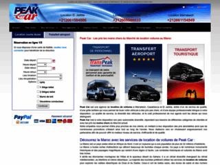 Peak car agence de location des voitures au Maroc