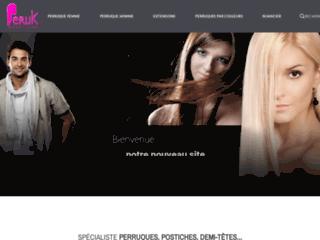 PERUK.FR Spécialiste des perruques postiches, queues de cheval, extensions à clip à petits prix.,