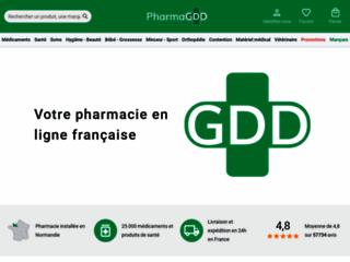 Capture du site http://www.pharma-gdd.com