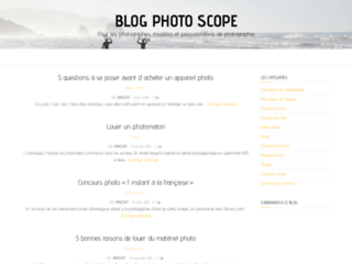 Aperçu de Photo Scope : l'annuaire de la photographie