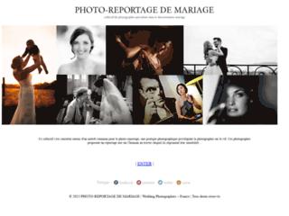 Capture du site http://www.photographereportagedemariage.fr