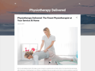 Physiotherapy Delivered: The Finest Physiotherapist at Your Service At Home