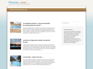 Piscineenbois.info