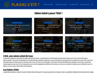 Aperçu du site Plaisirs d'Été