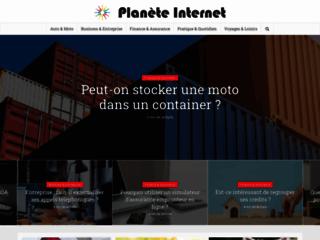 Aperçu du site Planète Internet