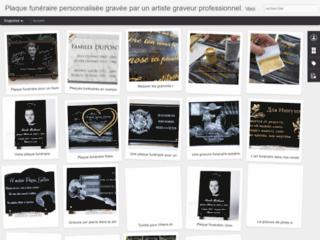 Détails : Plaque funéraire personnalisable