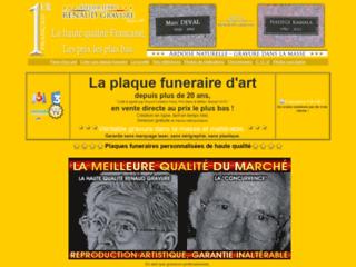 Détails : Réalisation de plaques sépulcrales sur granit