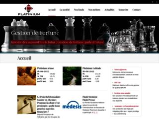 Aperçu du site Platinium Gestion
