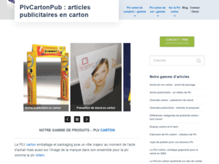 PLV carton emballage et packaging