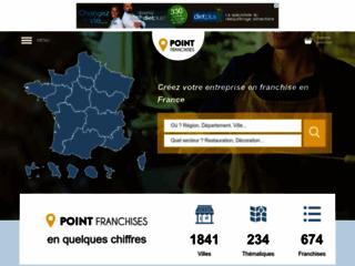Capture du site http://www.pointfranchises.com