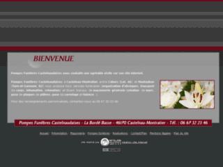 Capture du site http://www.pompes-funebres-castelnaudaises.com/