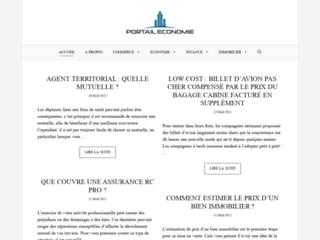 Capture du site http://www.portail-economie.com/