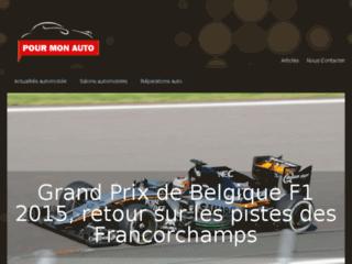 Détails : Pour-mon-auto.com, blog auto