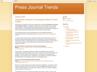 Press Journal Trends: Hydrophobic Interaction Chromatography Market
