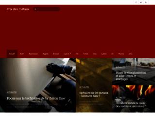 Aperçu du site Prix des métaux