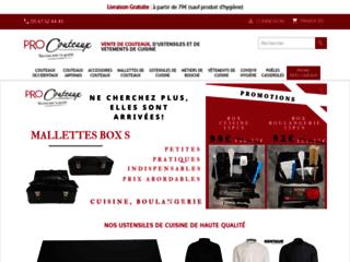 Capture du site http://www.procouteaux.com