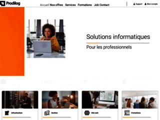 Capture du site http://www.prodilog.fr