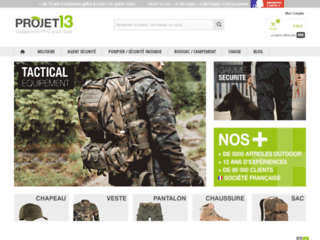 Capture du site http://www.projet13.com/
