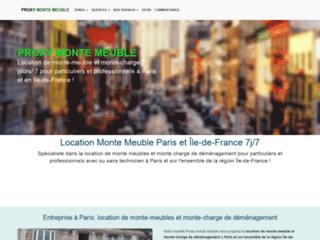 Détails : Location de monte-meubles à Paris