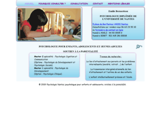 Aperçu du site Psychologie Nantes