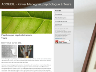 Capture du site http://www.psychologue-tours.net