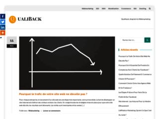 Capture du site http://www.qualiback.com