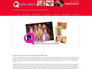 Capture du site http://www.quelle-idee.fr
