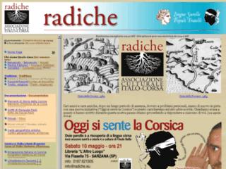 Radiche, Associazione italo-corsa