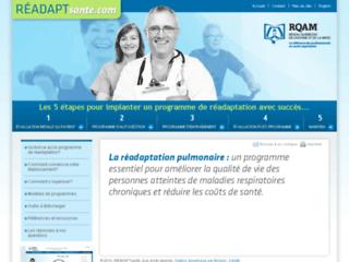 Programme de réadaptation pulmonaire sur http://www.readaptsante.com