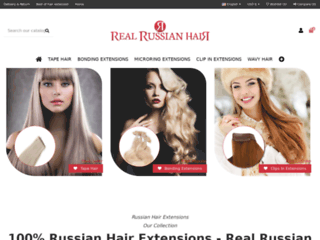 Aperçu du site Real Russian Hair