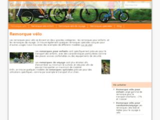 Capture du site http://www.remorque-velo.info