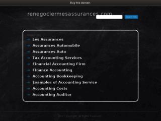 Capture du site http://www.renegociermesassurances.com