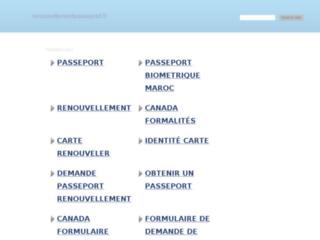 Aperçu du site Renouvellement Passeport