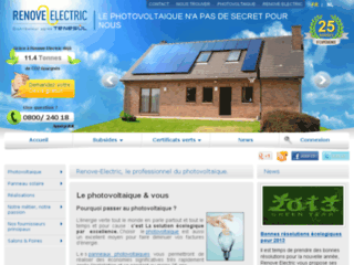 Capture du site http://www.renove-electric.be