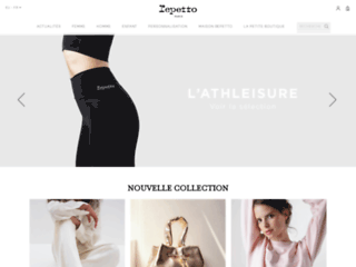 Capture du site http://www.repetto.fr