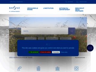 Site officiel du Département (Rhône)