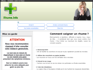 Détails : Rhume.info : Comment soigner un rhume