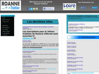 Site web du club de triathlon de Roanne - Loire - 42