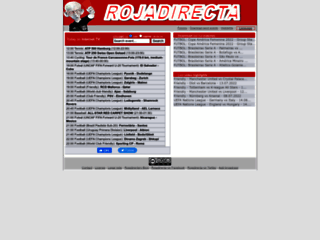 Screenshot du site Rojadirecta.es sur rojadirecta.es
