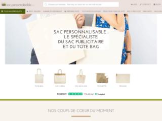 Aperçu du site Fabricant de sac personnalisable à Paris