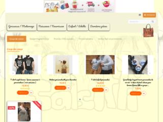 Tee-shirt et bandeaux de grossesse porteurs de messages - Créations SALSIFFI