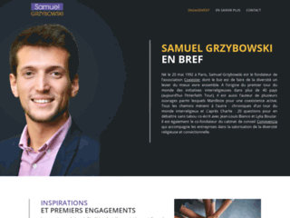 Aperçu du site Samuel Grzybowski