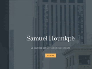 image du site https://samuelhounkpe.com/