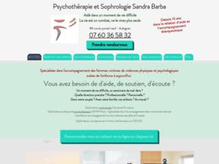 Psychothérapie et sophrologie Sandra Barba