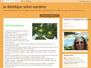La diététique selon Sandrine