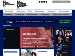Aperçu du site Ministère des Affaires sociales et de la Santé