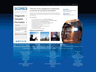Capture du site http://www.scores-management.com