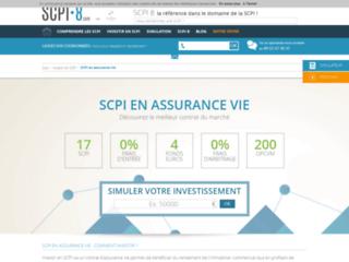 Capture du site http://www.scpiassurancevie.com/