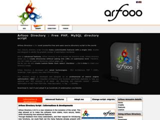 Info: Scheda e opinioni degli utenti : Download Arfooo Directory Script - Scarica Arfooo CMS